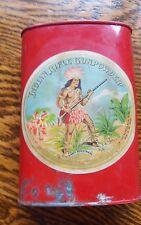 Vintage indian riffle gun powder dupont tin ?