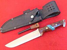 Bark River 1st Production Ironwood burl & turquoise Bravo-2 MIB full tang knife