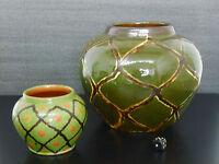 2 x Keramik Vasen Laeuger-Ära Jugendstil Ceramic vase Art Nouveau