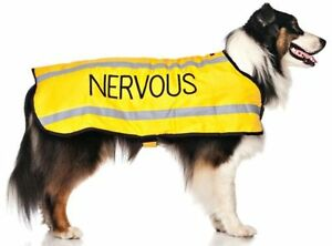Pet Dog Coats NERVOUS Yellow Rainproof Reflective Warm Waterproof Adjustable