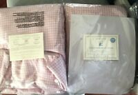 """Pottery Barn Kids Pink White Gingham Evelyn Blackout Panels Curtain 44""""x96"""" EUC"""