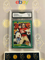 1989 Score Joe Montana #329 Record Breaker - 10 GEM MT GMA Graded Football Card
