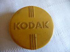 #95 vtg KODAK LENS  BLACK & YELLOW plastic CASE w AS IS Yellow Lens