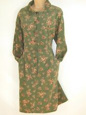 LAURA ASHLEY VINTAGE AUTUMN BOUQUET MOSS GREEN NEEDLECORD DAY DRESS, 16