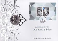 2012 Diamond Jubilee Queen Elizabeth II Limited Edition FDC With £5 - 1437/2500