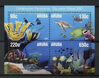 Aruba 2017 MNH Underwater Panorama 4v M/S Fish Fishes Coral Turtles Stamps