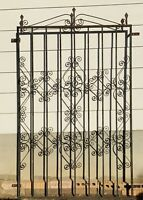 Antique Wrought Iron Fence Panel Victorian Ornate Fence 3 ft 10 in X 6 ft. Gate