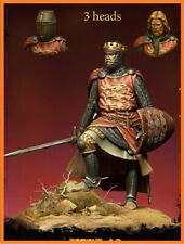1:24 75mm Resin Figure Kit Richard the Lionheart (3 Heads) Unassambled Unpainted