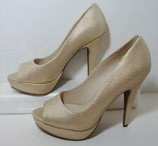 Apt 9 Metallic Gold Peep Toe Platform Heel Womens 9