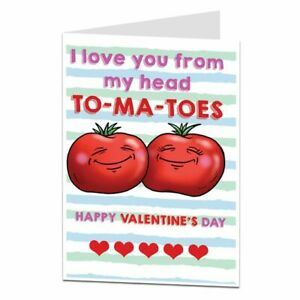 Funny Silly Valentines Day Card For Him Her Cute Romantic I Love You Design