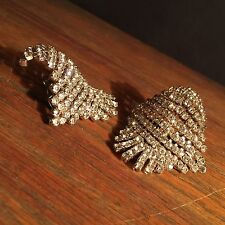 Vintage Shoe Clips Art Deco Rhinestone Buckles PRIORITY MAIL