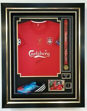 Rare STEVEN GERRARD of Liverpool 2005 Signed Shirt Autographed Jersey and Boot