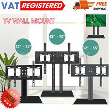 "14""- 70"" Universal Desk Top TV Stand Bracket VESA Mount LCD LED Plasma UK STOCK"