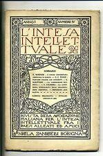L'INTESA INTELLETTUALE # Trimestrale - Anno I - N.4 # Dicembre 1918 Zanichelli