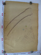 ROMA Mappa Catastale 528 L.Tevere Revel Pinturicchio Mancini Masaccio 1943 c