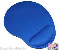 Resto de muñeca azul alfombra de gomaespuma Comodidad Soporte Pad Mouses Ópticos Para PC Laptop