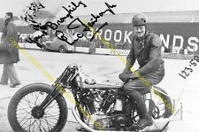 "ERIC FERNIHOUGH Brough Superior Brooklands motorcycle. 10x7"" photo (b)"