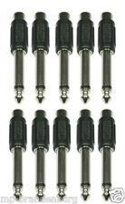 10 x Adapter Klinke 6,3 mm mono auf Cinch / RCA hochwertig verarbeitet