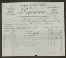 "CLERMONT-FERRAND (63) TISSUS en Gros ""PEYRONNET"" en 1894"