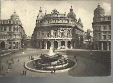 genova piazza de ferrari cartolina spedita nel 1941 molto bella
