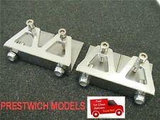 2 x TRIM TABS LARGE rc model boat gas nitro aluminium stainless steel