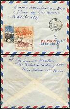 FRENCH IVORY COAST ISSIA AIRMAIL MULTI FRANKING 1956 PROPELLER ENVELOPE