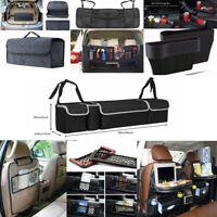 Car Seat Back Multi-Pocket Storage Bag Organizer Holder Accessory Black