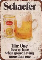 """1975 Schaefer Beer Vintage Retro Metal Sign 8"""" x 12"""""""