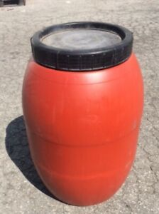 55 Gallon BARREL DRUM PLASTIC WATER RAIN BARRELS DRUM DRUMS CONTAINER FOOD GRADE
