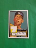 MICKEY MANTLE 2006 TOPPS CARD #7 YANKEES GAME USED JERSEY PIECE RELIC CARD