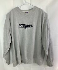 Vintage Dallas Cowboys NFL Sweater Men's XXL Gray Pullover
