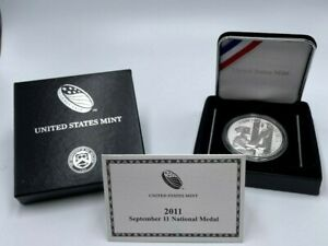 2011-W September 11 National Proof Medal 1oz .999 Silver 40mm w/ Box & COA 9/11