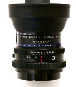 [N MINT+ w/ Hood, Filter] Mamiya Sekor Z 110mm F2.8 W Lens For RZ67 Pro II IID
