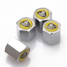 4Pcs For Lotus Car Auto Wheel Tire Valve Stems Caps Dust Covers Logo