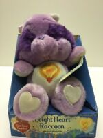 "13"" ""Bright Heart Raccoon"" Care Bears Cousins By Kenner In Cardboard Holder"