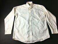 Cinch Mens White Plaid Front Pocket Button Front Shirt Size Small