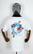 Huf Worldwide Skateboard T-Shirt Tee Come Down Triple Triangle White in M