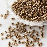 50g Sienna Glass Seed Beads about 3mm for Necklaces Bracelets FREE POSTAGE