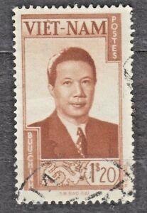 WIETNAM VIETNAM Fr. 1951 used SC#07 1,20pi stamp, Emperor Bao-Dai.