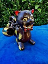 New listing Antique Betsons Spotted Kitten Cat Kitty Liquor Decanter Figurine Status & Cup