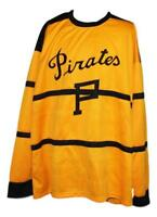 Any Name Number Size Pittsburgh Pirates Retro Custom Hockey Jersey Yellow