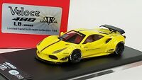 1:64 Veloce Ferrari 488 LB Performance Yellow Resin ignition kyosho liberty work