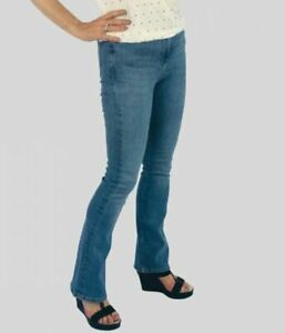 M&S Marks & Spencer Womens Ladies Faded or Medium Wash Flare Denim Jeans
