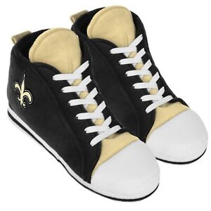 New Orleans Saints High Top Sneaker SLIPPERS New - FREE U.S.A. SHIPPING