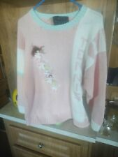 �Vtg Raquel's Collection Handmade Peru Golf 3D Sweater 80's Woman Golf Club Med