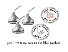 108 Personalized Religious Baptism Communion Hershey Kiss Candy Labels Wrappers