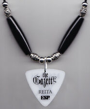 The GazettE Reita Signature White Guitar Pick Necklace - 2015 Dogmatic Tour