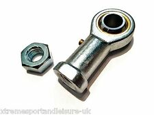 M6 6mm FEMALE RIGHT HAND THREAD ROSE JOINT TRACK ROD END COMPLETE WITH LOCKNUT