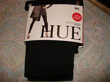 HUE Women's  Brushed Seamless LEGGINGS**   BLACK **  Size  M/L - - NWT