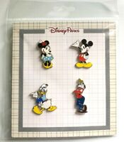 NEW DISNEY CLASSIC MICKEY AND FRIENDS CHARACTERS 4 PIN BOOSTER SET